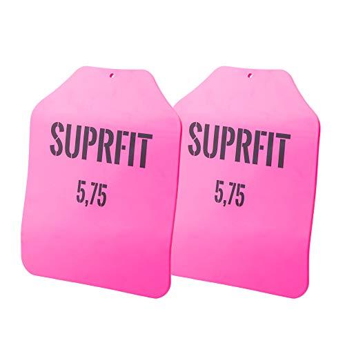 Suprfit Sigurd 3D Gewichtsscheiben - Zusatzgewicht für Sigurd 3D Gewichtsweste, Gewicht: 2 x 5,75 lbs (5,2 kg), ergonomische Form, optimierte Gewichtsverteilung, Pulverbeschichtung: pink
