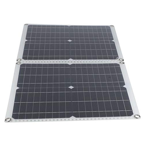 Kit de panel solar, panel solar al aire libre plegable de 50 vatios con enchufe multiusos, cargador de panel solar impermeable para teléfono móvil portátil