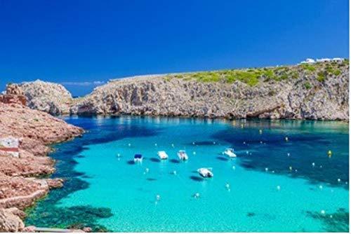 Rompecabezas Rompecabezas De Adultos 1000 Piezas Cala Cala Morell con Sus Rocas Rojas Y Aguas Cristalinas Y Azules Isla De Menorca Islas Baleares para Niños Adultos