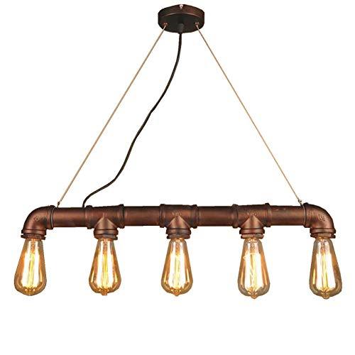 HWAMART ™ HL427 fünf Kopf Edison E27 Kupferrohr industrielle Steampunk-Anhänger Jahrgang rustikalen Deckenleuchte Lampe