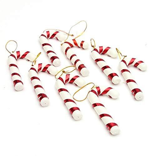 NLRHH Weihnachtsbaum 6pcs / Packung for Neujahr Party Kinder Geschenk Hanging Candy Cane Weihnachtsbaum Ornamente Krutch Anhänger Dekor Easy Montage (Farbe: Mehrfarbig) Peng (Color : Multicolored)