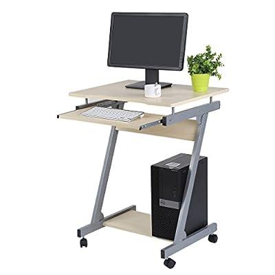 Belovedkai Laptop Table Mobile Desk Z Shape Lazy Home Office Desk Black Computer Workstation Desk Steady PC Desk