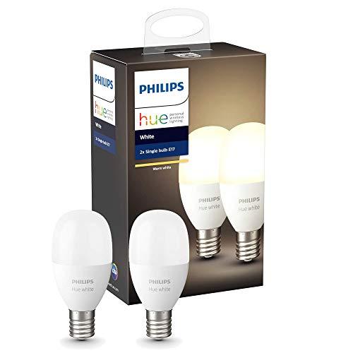 Philips Hue (ヒュー) ホワイトシングルランプE17(電球色)2個セット【Amazon Echo、Google Home、Apple HomeKit、LINE対応】