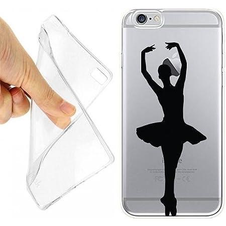 Custodia Cover Case Ballet Ballerina per iPhone 6 6S Trasparente ...