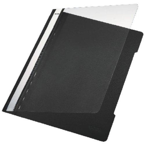 Leitz 41910095 Standard Hefter (A4, langes Beschriftungsfeld, PVC) schwarz