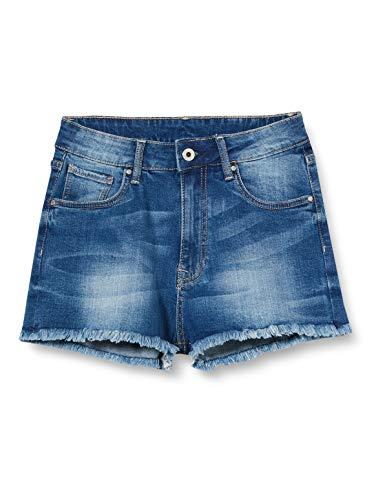 Pepe Jeans Patty Short Bañador, Azul (Denim 000), 8-9 años (Talla del Fabricante: 8) para Niñas