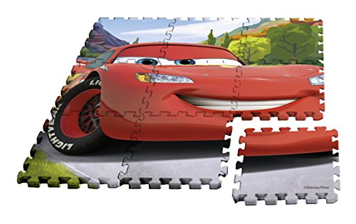 Kids- Alfombra Puzzle Cars, 90 x 90 cm (WD17625)