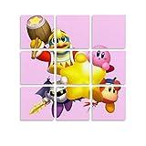 QHDS Kirby Star Allies - Cuadro decorativo para pared, diseño de Aliados, 20 x 20 cm x 9 cm, sin marco