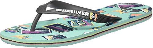 Quiksilver Molokai Vacancy, Zapatos de Playa y Piscina para Hombre, Multicolor (Grey/Green/Blue Xsgb), 45 EU
