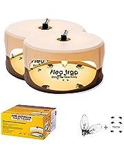Vlooienvallen, voor binnen vlooienvallen kleverige koepelbedvallen, met 2 plastic trays en 2 vervangende bollen natuurlijke insectenvallen