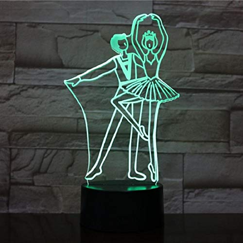 Balletdanzer 3D-lamp ballerinator Decora kinderlamp slaapstoel zwart wit base touch