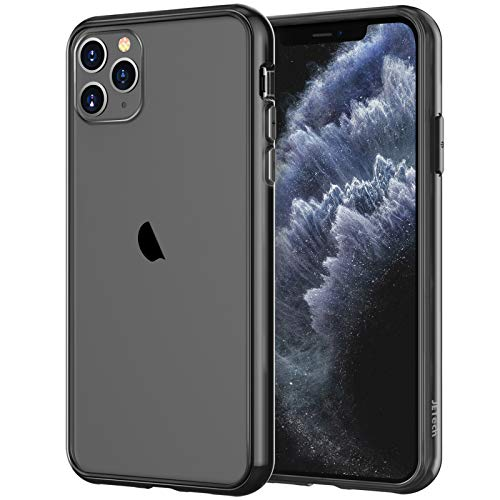 JETech Case for iPhone 11 Pro Max (2019), 6.5-Inch, Shockproof Transparent Bumper Cover, Anti-Scratch Clear Back, Black