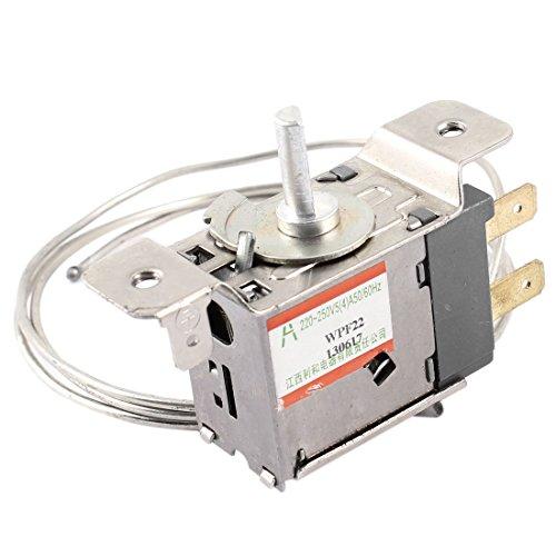sourcingmap AC 220–250 V 5 A Métal 2 broches réfrigérateur Thermostat de contrôle de température