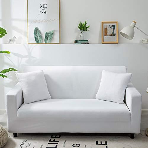 WXQY Funda de sofá monocromática Sala de Estar Funda de sofá elástica elástica combinación de Esquina Chaise Longue sillón Funda de sofá A25 1 Plaza