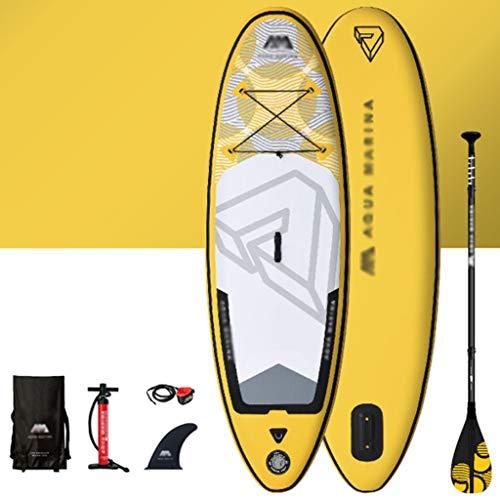 Aufblasbare Kajaks Stand-up Paddling Board Sup-Paddle-Board Für Kinder, Aufblasbares Surfbrett Für Anfänger, Verdicktes Schlauchboot Für Familienschwimmbäder (Color : Yellow, Size : 8ft)