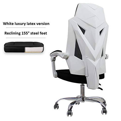 LIUDINGDING Chaise longue négociation Président Table et chaise Chaise de bar moderne ménages Simple Président de la Conférence Creative (Color : White)