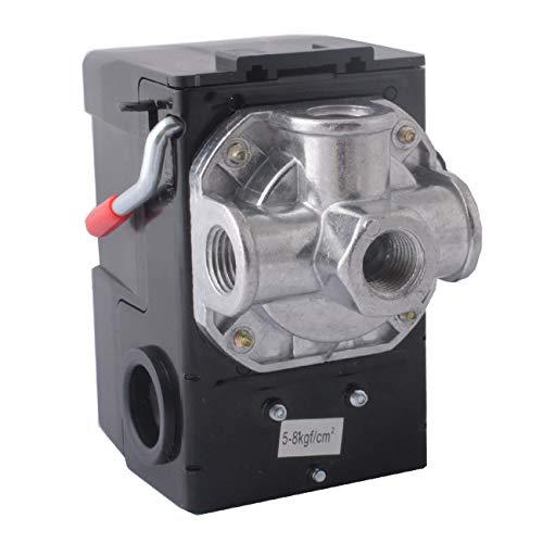 LF10-4H Pressure Switch, 4 Port Air Compressor Pressure Switch Replacement Control NPT1/4 95-125 PSI 20A