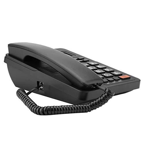 Teléfono fijo, teléfono con pantalla de identificación de llamadas, teléfono con cable duradero, sistema dual con función de pantalla de identificación de llamadas para oficina en casa,