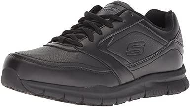 Skechers for Work Women's Nampa-Wyola Food Service Shoe, black polyurethane, 8.5 W US