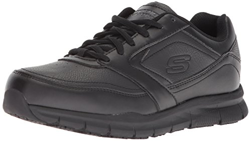 Skechers for Work Women's Nampa-Wyola Food Service Shoe, black polyurethane, 8.5 M US