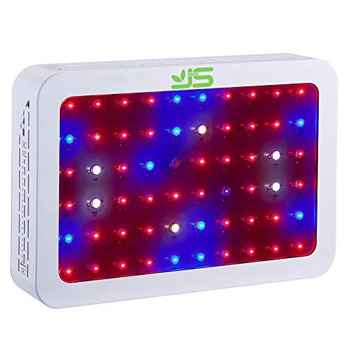 para WDoble PlantasVerdurasFlores LED LED Chipluz e para PlantasEspectro Products Lámpara de invernaderos JS Crecimiento Completo600 D2WEIYH9