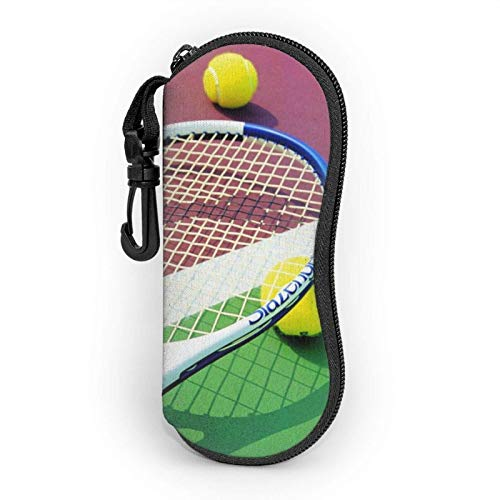 GOSMAO Funda Gafas Pelota de tenis Neopreno Estuche Ligero con Cremallera Suave Gafas Almacenaje