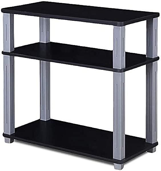 FDInspiration 黑色多用途月层组件操作台货架展架媒体电视柜圆角与电子书