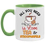 N\A Todo lo Que Necesitas es Amor Taza de café con Acento de té y Stroopwafels