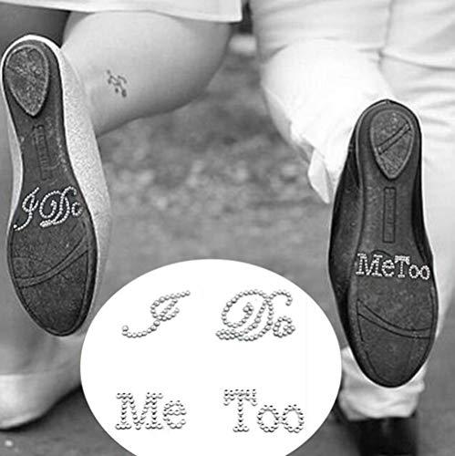 Hpybest - 1 juego de pegatinas para zapatos de novio con diamantes...