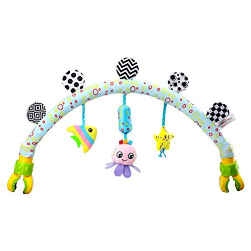 Baby Travel Play Arch Stroller Stroller and Car Seat Arch Crib Accessory Deal for Infants & Toddlers, Activity Arch with Fascinating Toys