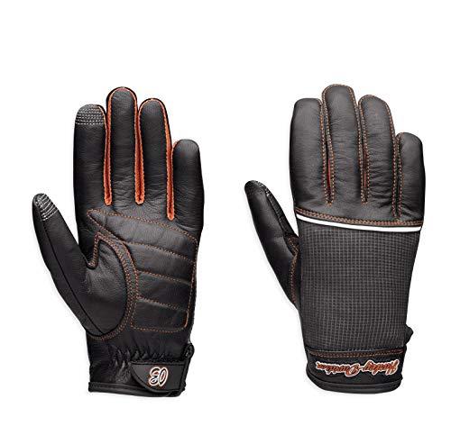Harley-Davidson Cora - Guanti da donna in pelle e rete - nero - X-Large