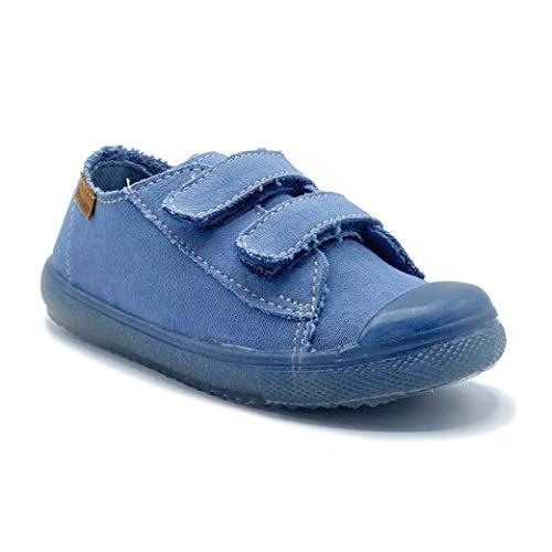 Zapatillas de Lona ecológica para niña y niño/Bambas Infantiles con aromaterapia antimosquitos/Calzado Infantil con Cierre de Velcro/fabricacion en España