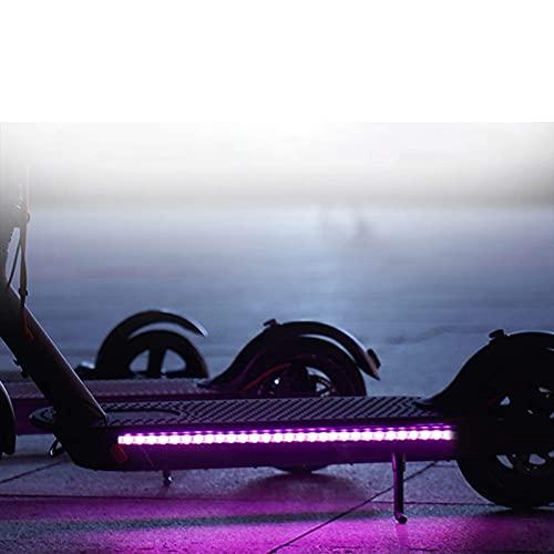 UNISOPH Scooter Lanterna, Tira de Linterna LED para Scooter eléctrico, luz de decoración de Seguridad Impermeable Plegable para Xiaomi M365