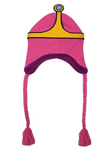 Adventure Time Meroncourt Unisexe Princesse Bubblegum Laplander Bonnet, Rose, Taille Unique