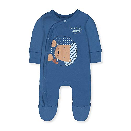 Mothercare B Animal Friends Wadded WIS Body, (Blue 128), Tiny Baby (Size:50) para Bebés