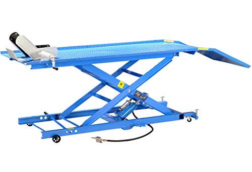 Pro-Lift-Werkzeuge Hebebühne Pneumatikantrieb 450 kg Motorrad-Hebebühne Motorrad Scheren-Bühne Motorradlift hydraulisch Motorradheber Lift Kreuz Arbeitsbühne Montage-Ständer