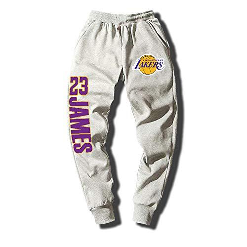 Pantaloni da basket Lakers James uomo e donna pantaloni sportivi, pantaloni della tuta