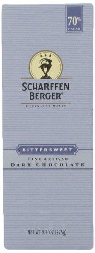 SCHARFEEN BERGER Artisan Dark Chocolate Bars, Bittersweet, 9.7 Ounce