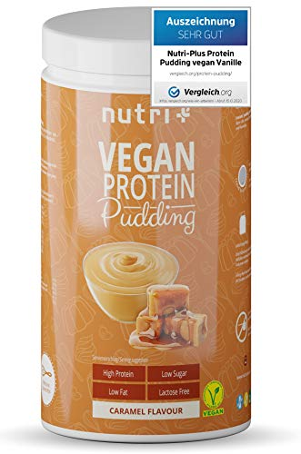 Protein Pudding Vegan Caramel 500g - 83,4% Protein - only 113 Calories - Low Sugar Dessert - Low Sugar - Lactose Free - Low Calorie - Gluten Free