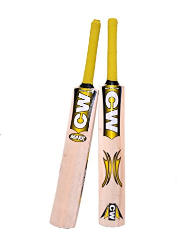 CW Junior Cricket World Genuine Premium Quality Perfect Rubber/Tennis Ball Kashmir Willow Cricket Bat Size No.5 Best for 9-10 Yr Boys/Kid/Child Full Short Handle Mix Cane Free Bat Case Cover