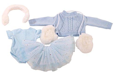 Götz 3402602 Kombination Skating - Schlittschuh Outfit Puppenbekleidung Gr. XL - 5-teiliges Bekleidungs- und Zubehörset für Stehpuppen von 45 - 50 cm