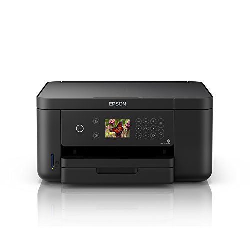 Epson Expression Home XP-5100 3-in-1 Tintenstrahl-Multifunktionsgerät Drucker (Scanner, Kopierer, WiFi, Duplex, Einzelpatronen, 4 Farben, DIN A4, Amazon Dash Replenishment-fähig) schwarz