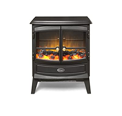 Dimplex 046376 CVL20N Courchevel Electric Stove with Optiflame Effect, 2 kW, 230 W