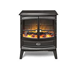 2kW Output with a choice of heat settings Optiflame effect with flame only option H545mmxW440mmxD310mm Real coal fuel bed supplied 1 year guarantee Designed to sit in or on a standard fireplace or hearth 2kW fan heater with choice of two heat setting...