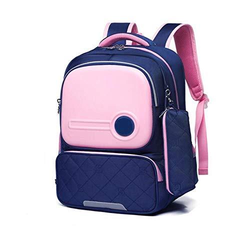 SFBBBO Schultasche OrthopäDische RüCkentaschen Schultasche FüR MäDchen ReißVerschluss Kinder Schultasche Kinder Rucksack Pink-Middle