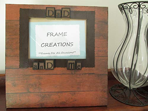 5x7 Dad and Me Themed - Hand Decorated Picture Frame