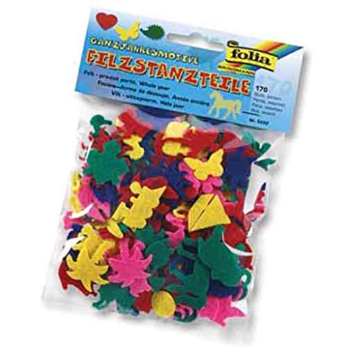 Filzstanzteile Weihnachtsmotive, ca. 170 Teile [Spielzeug]
