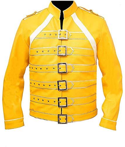 HiFacon Freddie Mercury - Disfraz de chaqueta amarilla