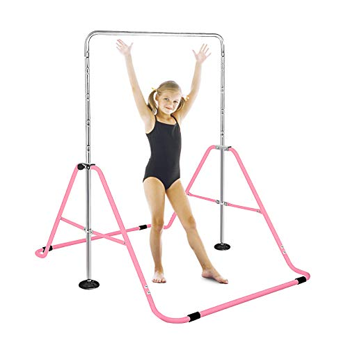 FBSPORT Folding Gymnastic Training Kip Bar Expandable Gymnastics Bars Horizontal Bars Adjustable Height Fitness Equipment for Home/Floor/Practice/Gymnastics/Trainning/Parkour