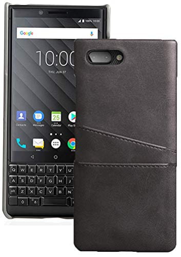 Case for BlackBerry Key2, Black Credit Card Slot Hard Shell Wallet Cover for BlackBerry KEY2 Phone, Key 2 (BBF100-1, BBF100-4, BBF100-6)